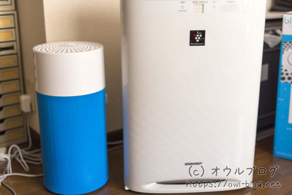 空気清浄機のサイズ比較