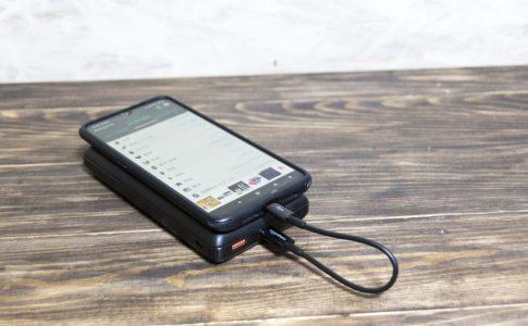AmazonTypeCケーブルで充電