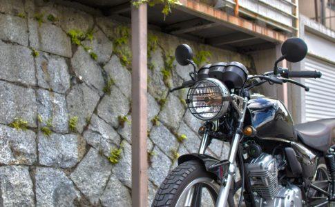 バイク用ヘッドライトガード取り付け